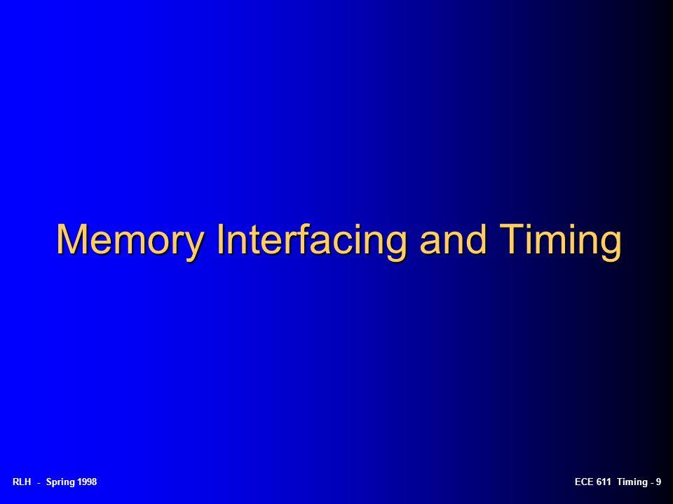 Memory Interfacing and Timing