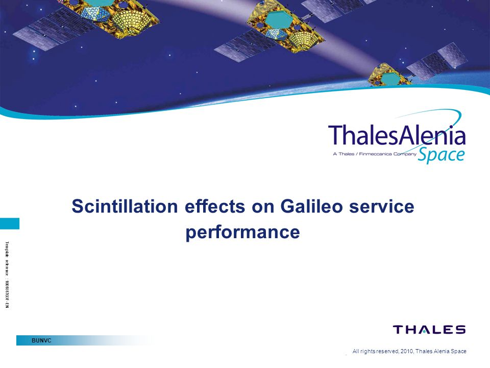 Scintillation effects on Galileo service performance