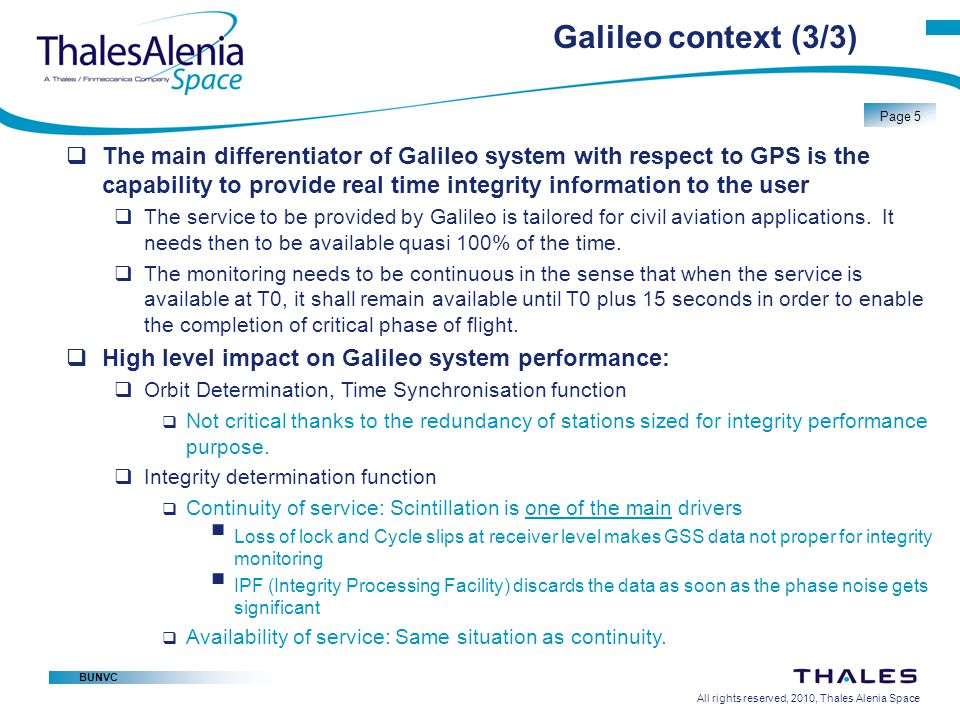 Galileo context (3/3)