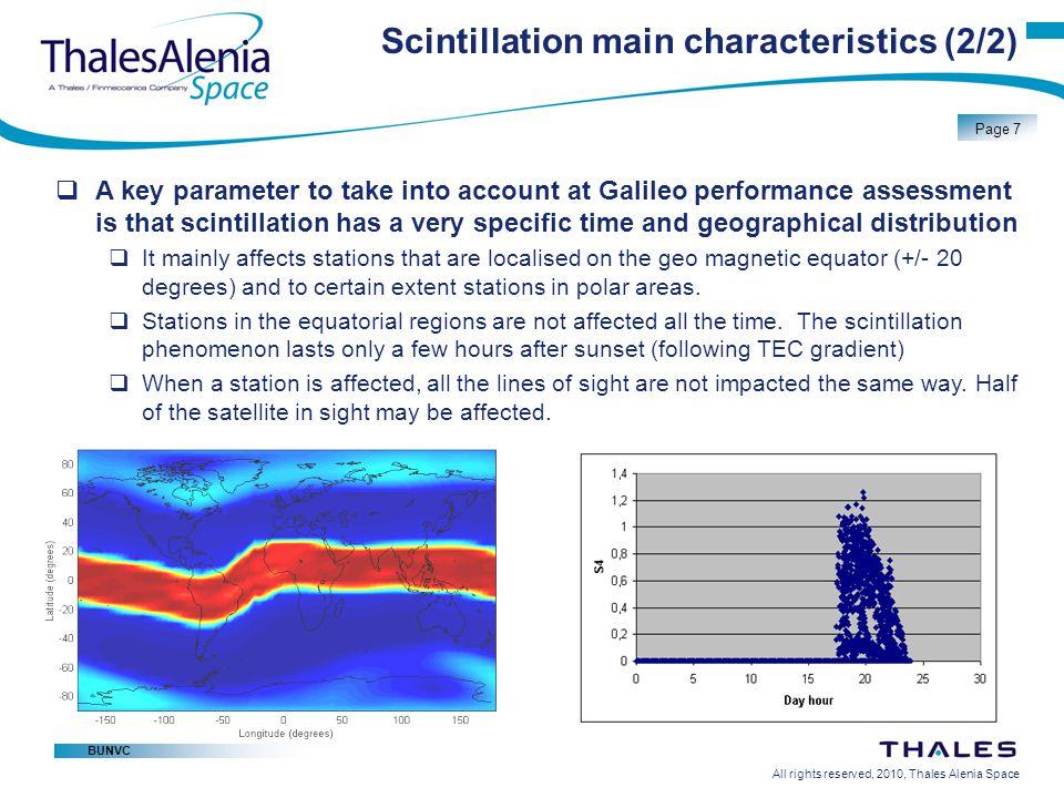 Scintillation main characteristics (2/2)