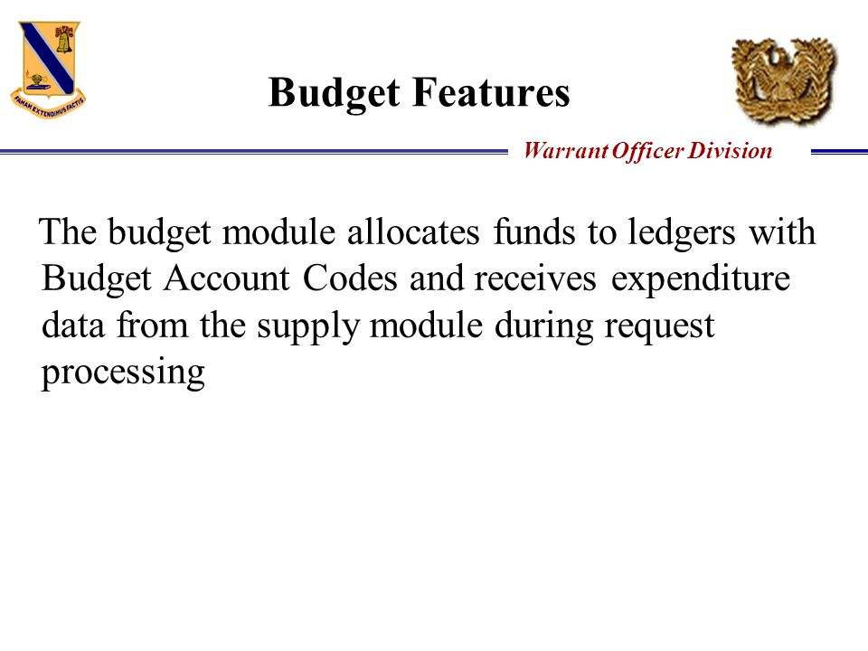 Budget Features