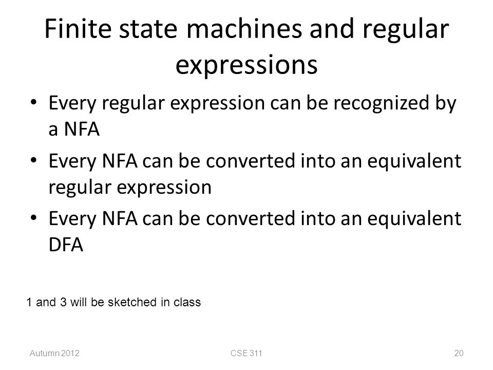 Finite state machines and regular expressions