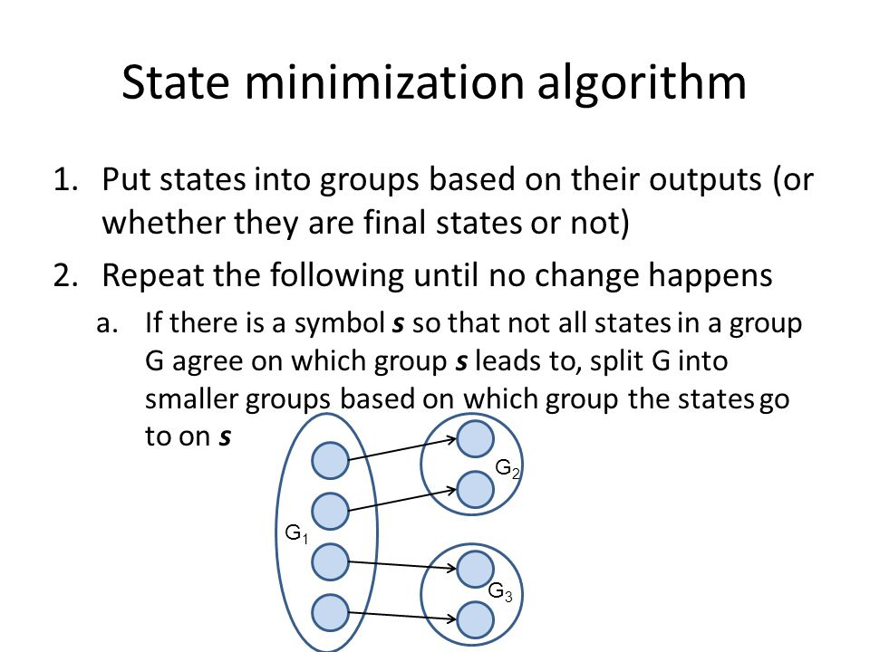 State minimization algorithm