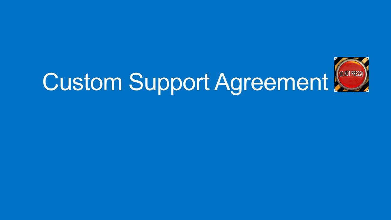 Custom Support Agreement
