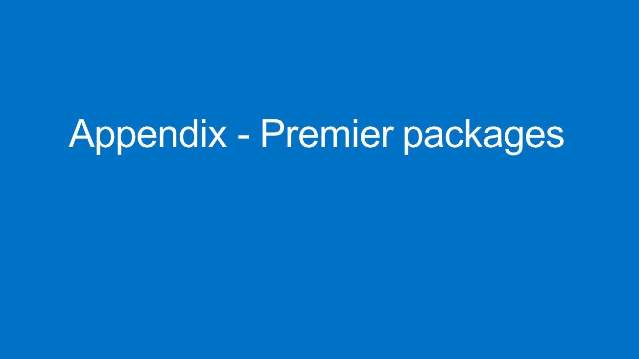 Appendix - Premier packages