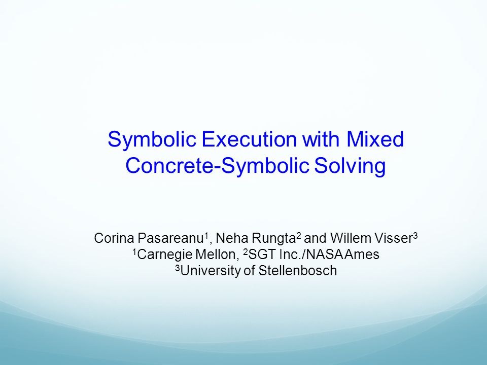 Symbolic Execution with Mixed Concrete-Symbolic Solving