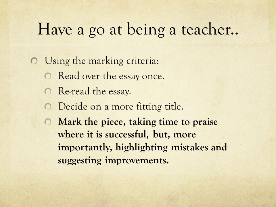 Have a go at being a teacher..