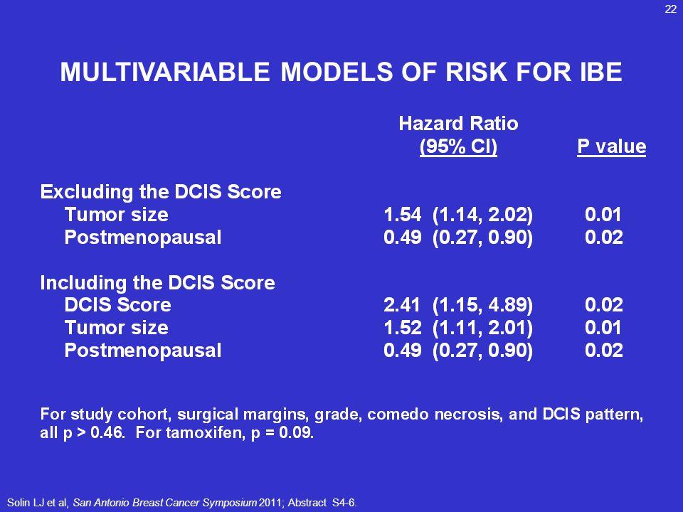 MULTIVARIABLE MODELS OF RISK FOR IBE