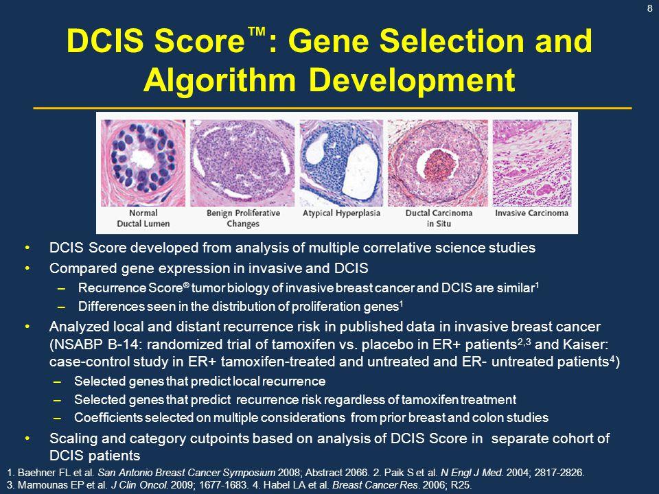 DCIS Score™: Gene Selection and Algorithm Development