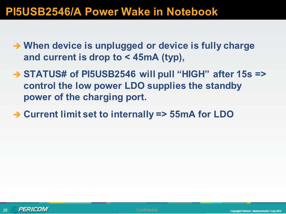 PI5USB2546/A Power Wake in Notebook