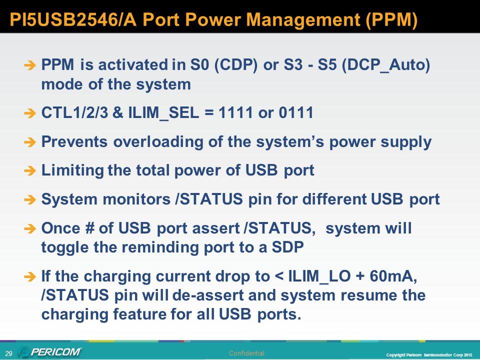 PI5USB2546/A Port Power Management (PPM)