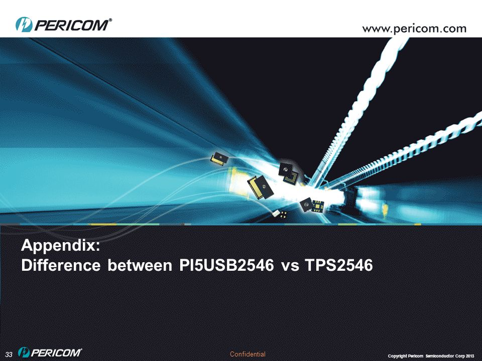 Appendix: Difference between PI5USB2546 vs TPS2546
