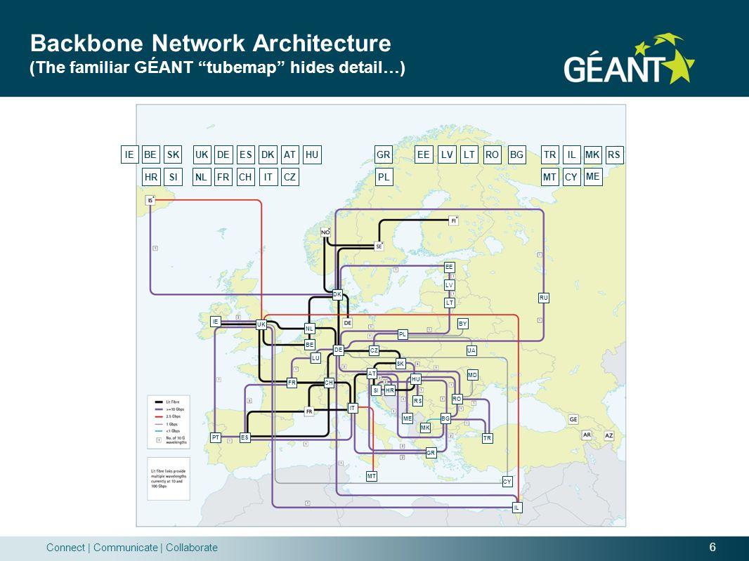 Backbone Network Architecture (The familiar GÉANT tubemap hides detail…)