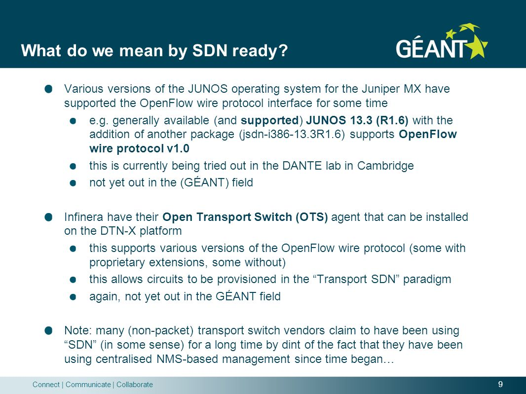 What do we mean by SDN ready