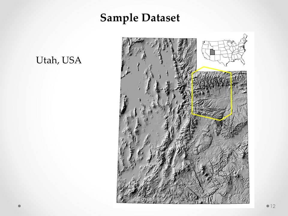 Sample Dataset Utah, USA