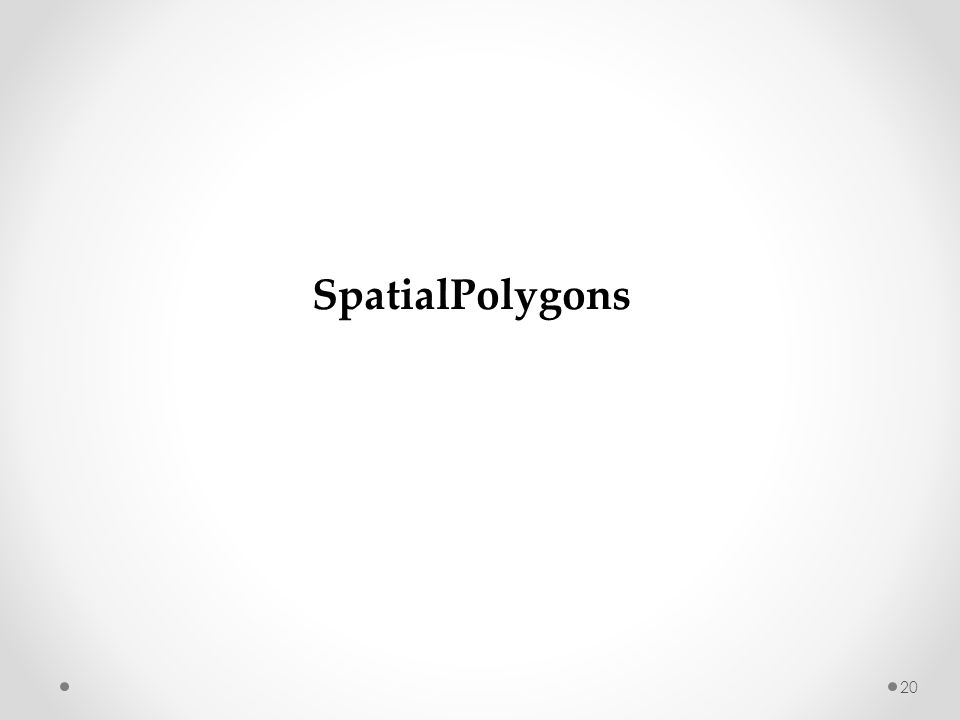SpatialPolygons