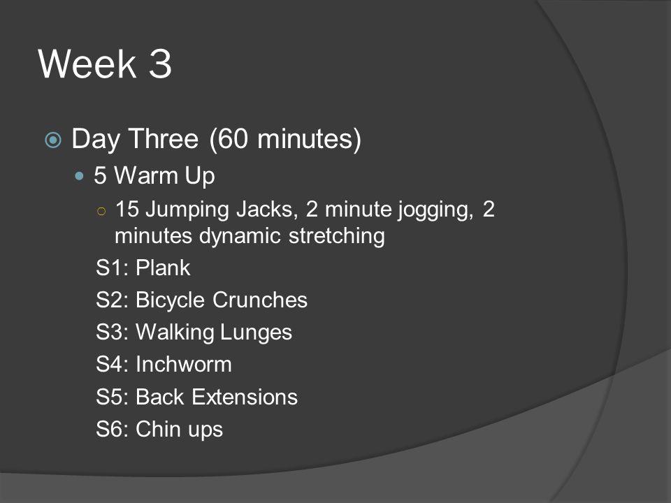 Week 3 Day Three (60 minutes) 5 Warm Up