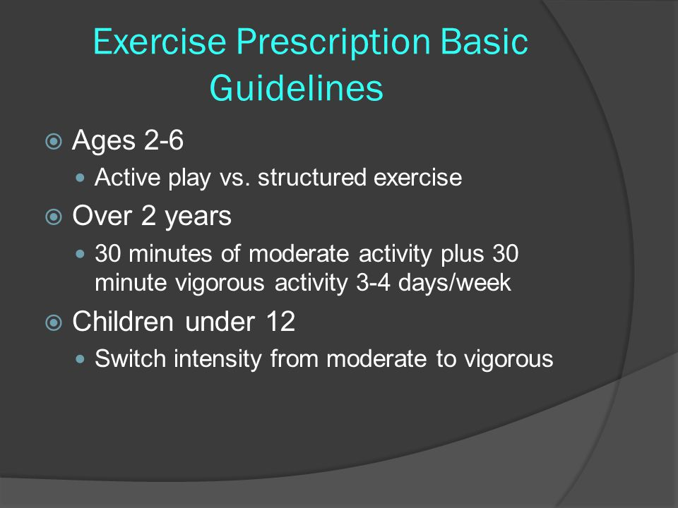 Exercise Prescription Basic Guidelines