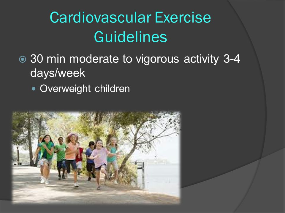 Cardiovascular Exercise Guidelines