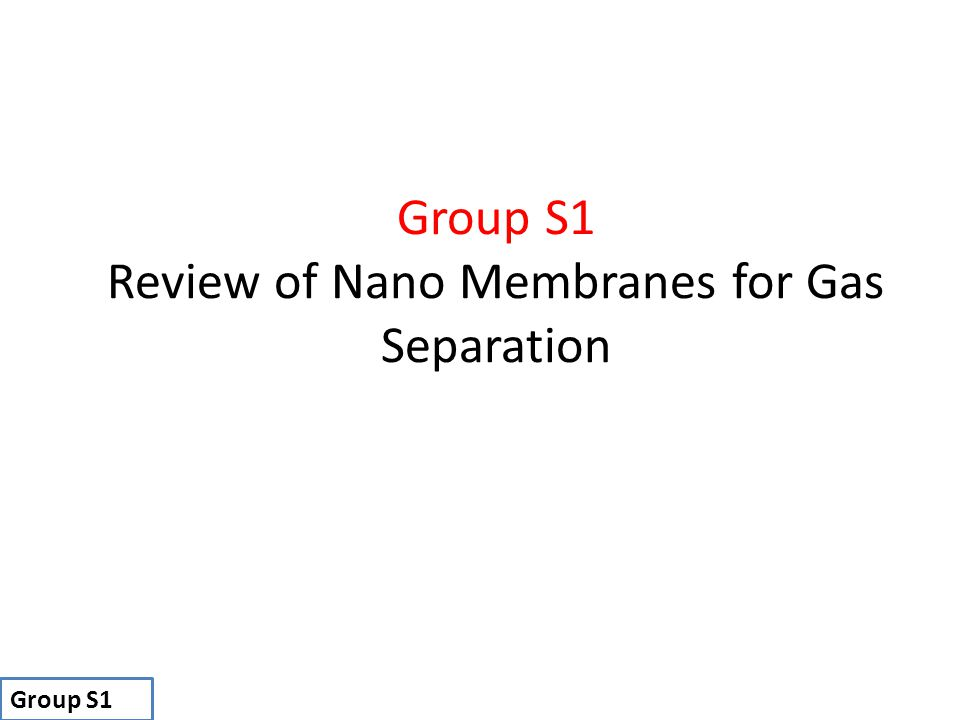 Review of Nano Membranes for Gas Separation