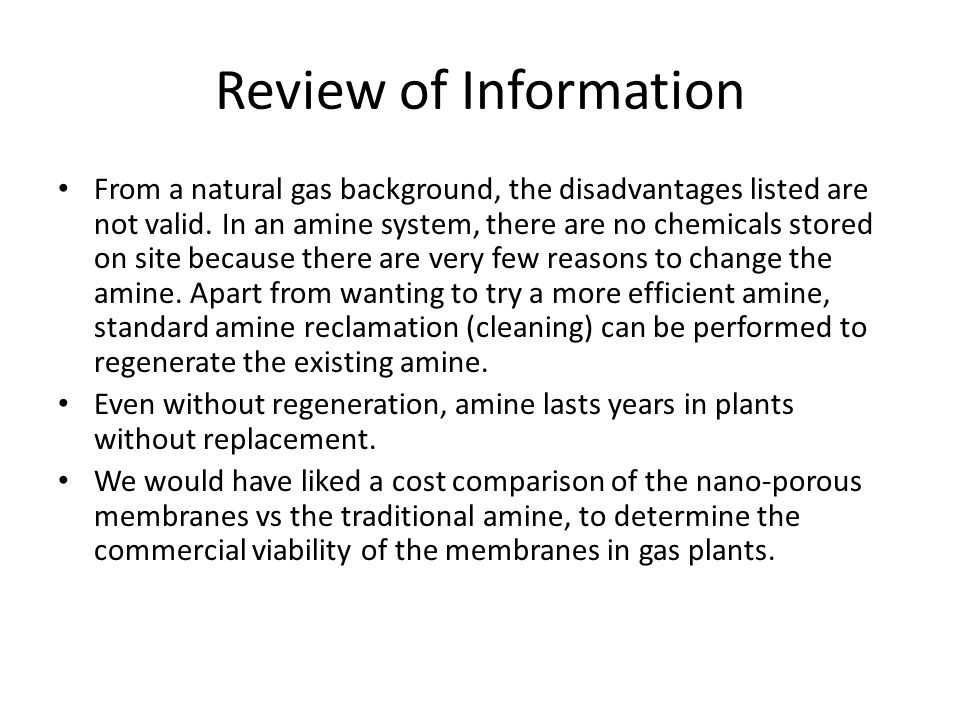 Review of Information
