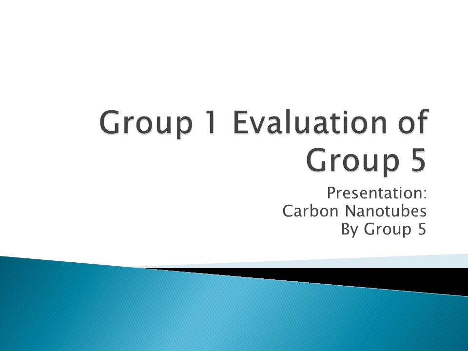 Group 1 Evaluation of Group 5