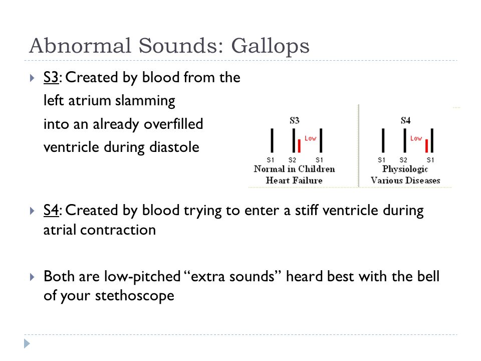 Abnormal Sounds: Gallops