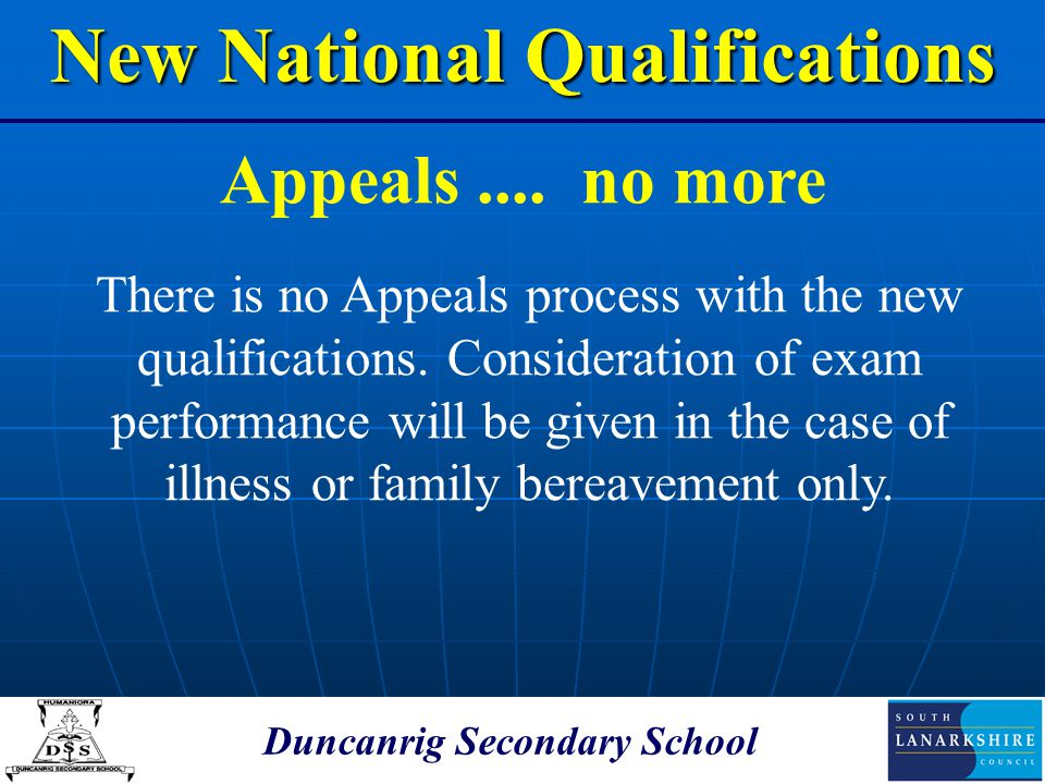 New National Qualifications Duncanrig Secondary School