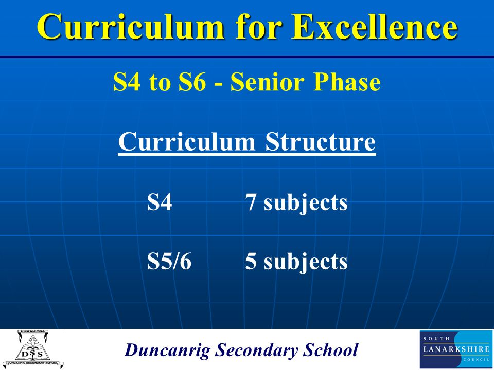 Curriculum for Excellence Duncanrig Secondary School