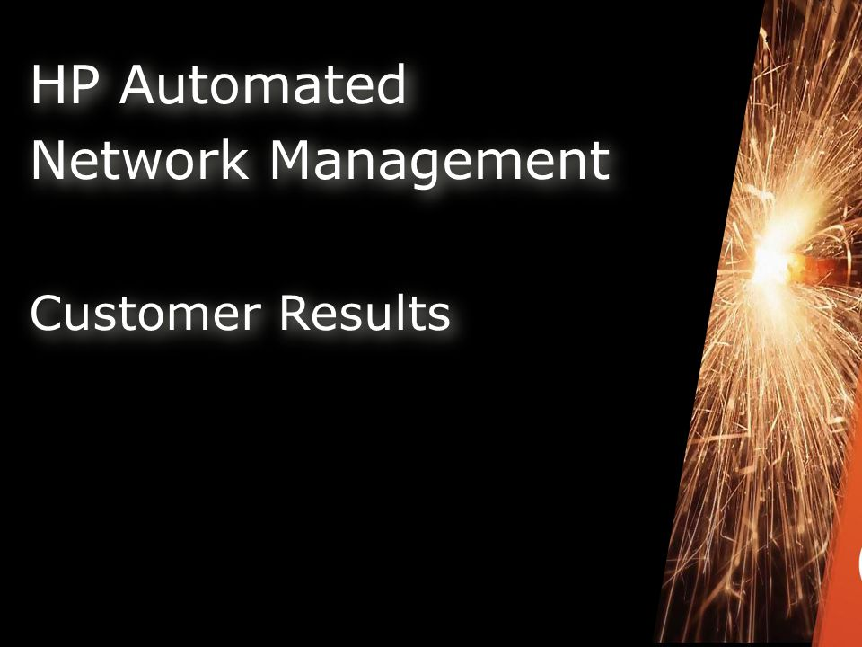 HP Automated Network Management