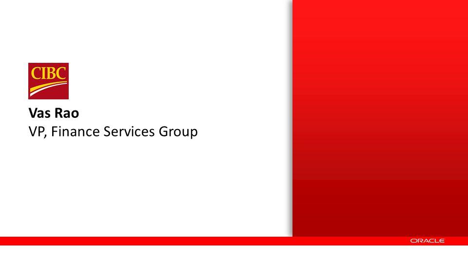 Vas Rao VP, Finance Services Group