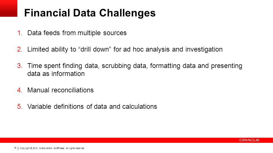 Financial Data Challenges