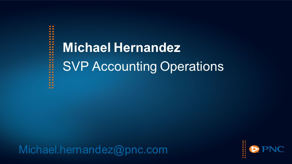 Michael Hernandez SVP Accounting Operations