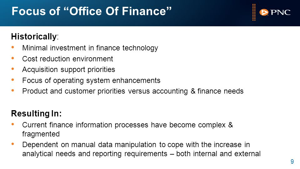 Focus of Office Of Finance