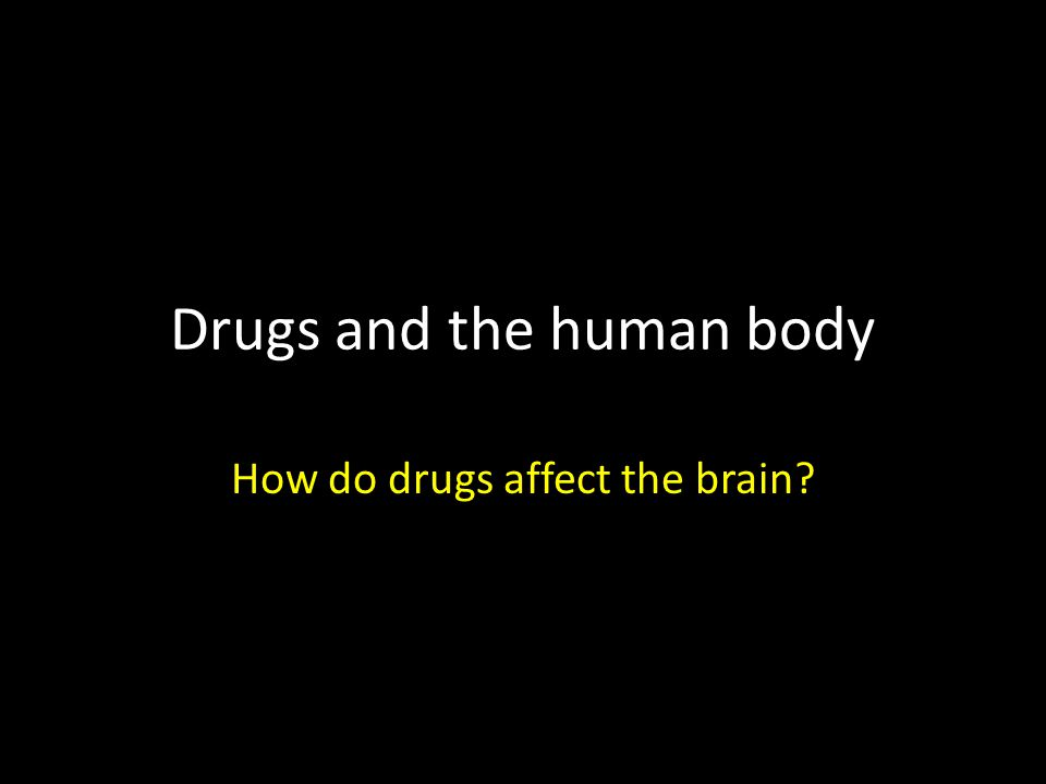 Drugs and the human body