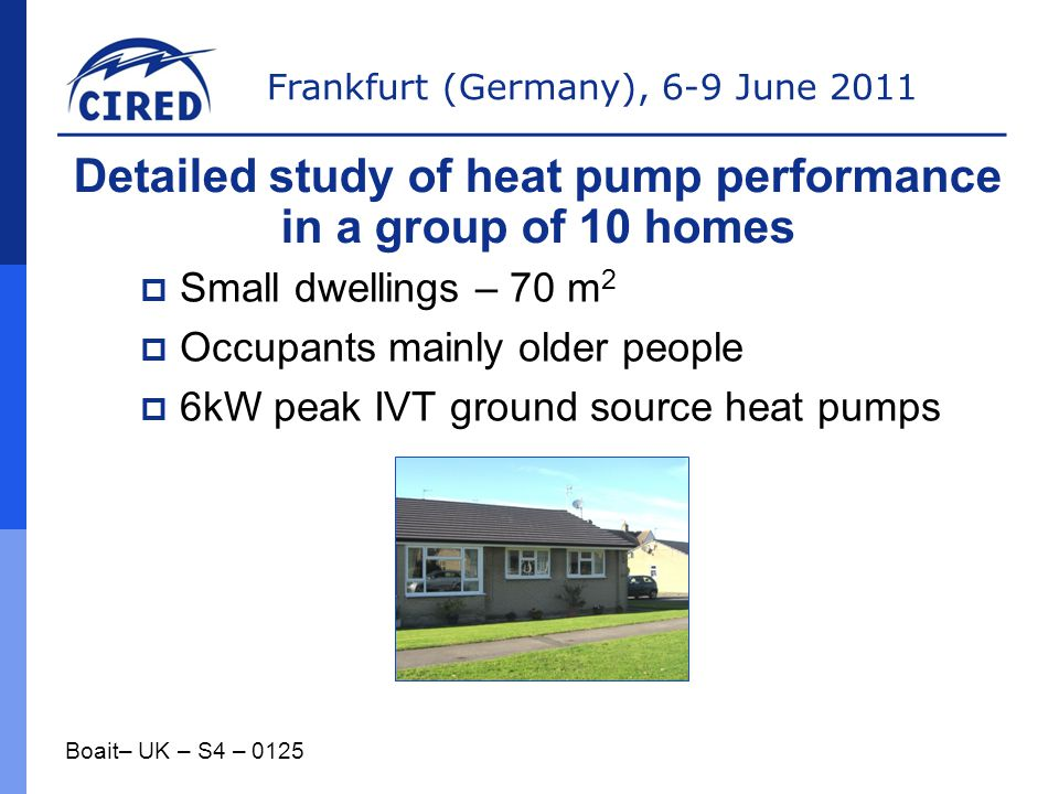 Detailed study of heat pump performance in a group of 10 homes