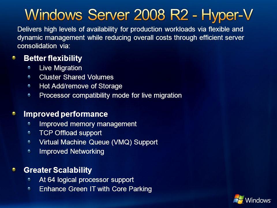 Windows Server 2008 R2 - Hyper-V