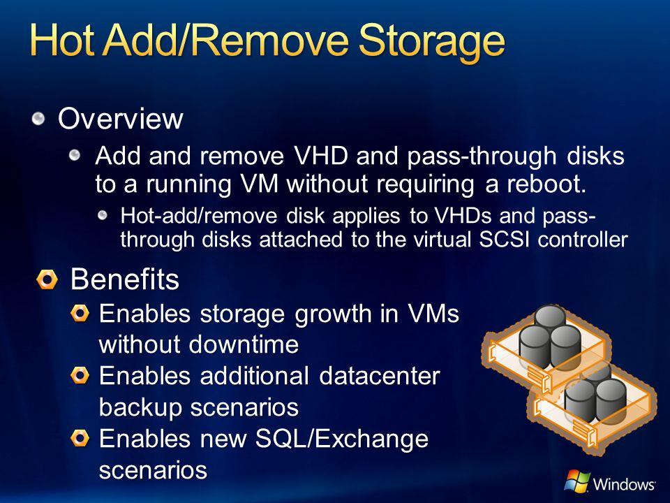 Hot Add/Remove Storage