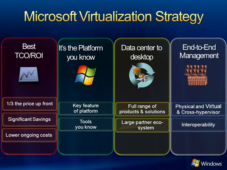 Microsoft Virtualization Strategy