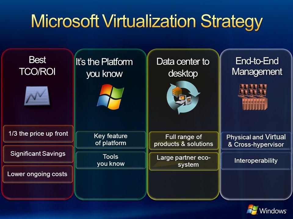Microsoft Virtualization Strategy