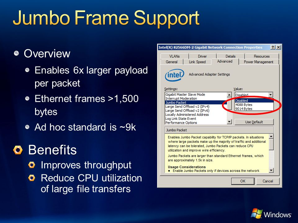 Jumbo Frame Support Benefits Overview