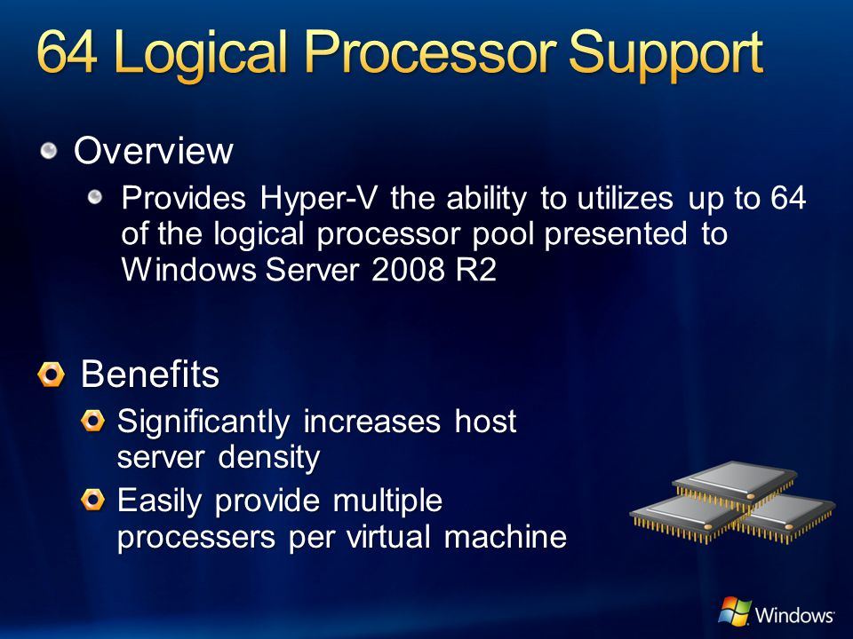 64 Logical Processor Support