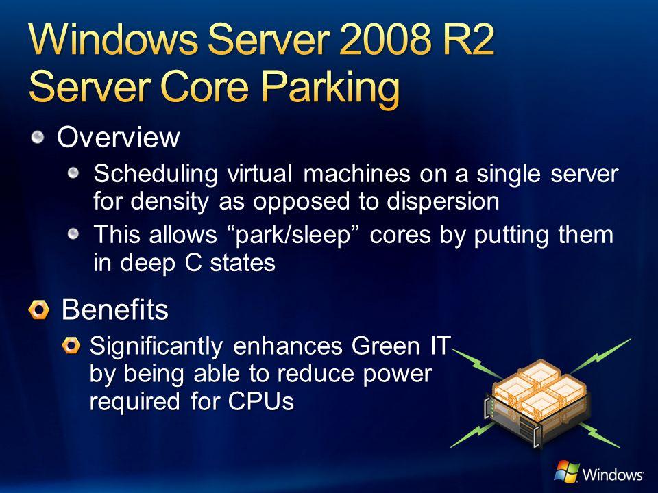 Windows Server 2008 R2 Server Core Parking