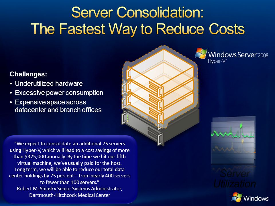 Server Consolidation: The Fastest Way to Reduce Costs