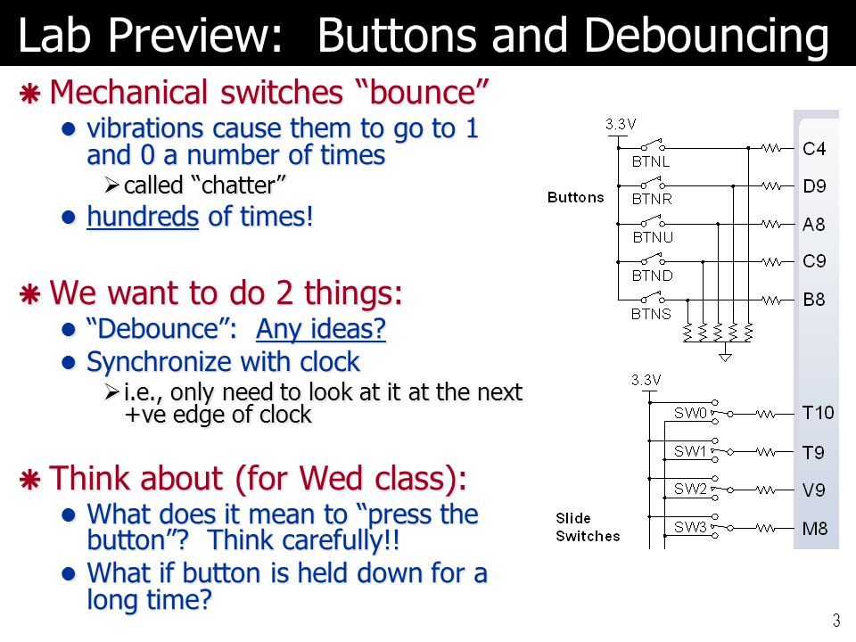 Lab Preview: Buttons and Debouncing