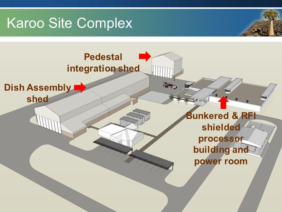 Karoo Site Complex Pedestal integration shed Dish Assembly shed