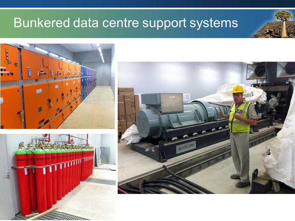 Bunkered data centre support systems
