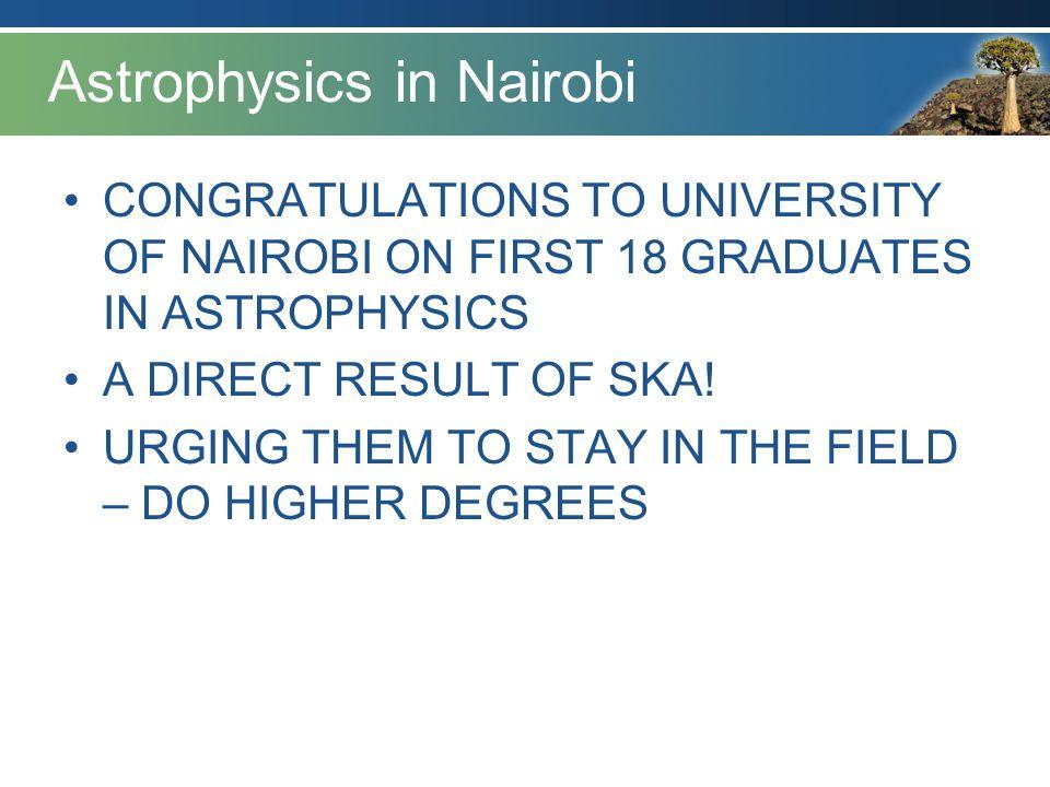 Astrophysics in Nairobi
