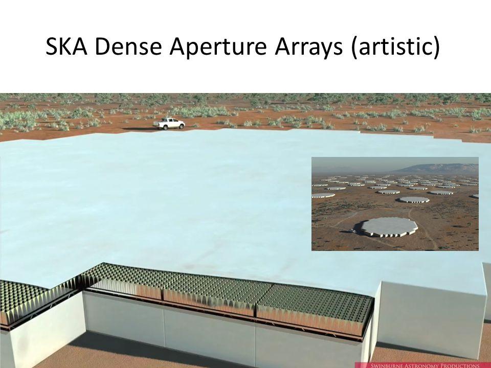 SKA Dense Aperture Arrays (artistic)