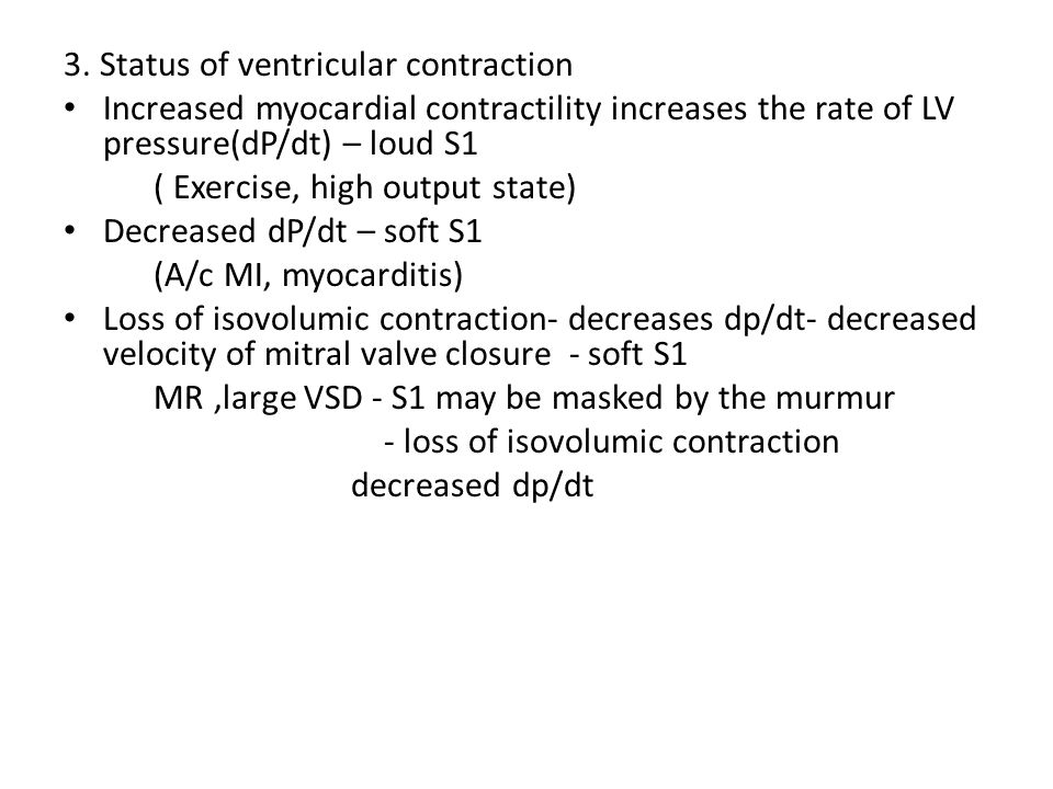3. Status of ventricular contraction